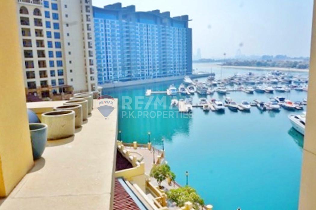 2 Bedroom plus Maids C Type Apartment | Rented - Marina Residences 1, Marina Residences, Palm Jumeirah, Dubai