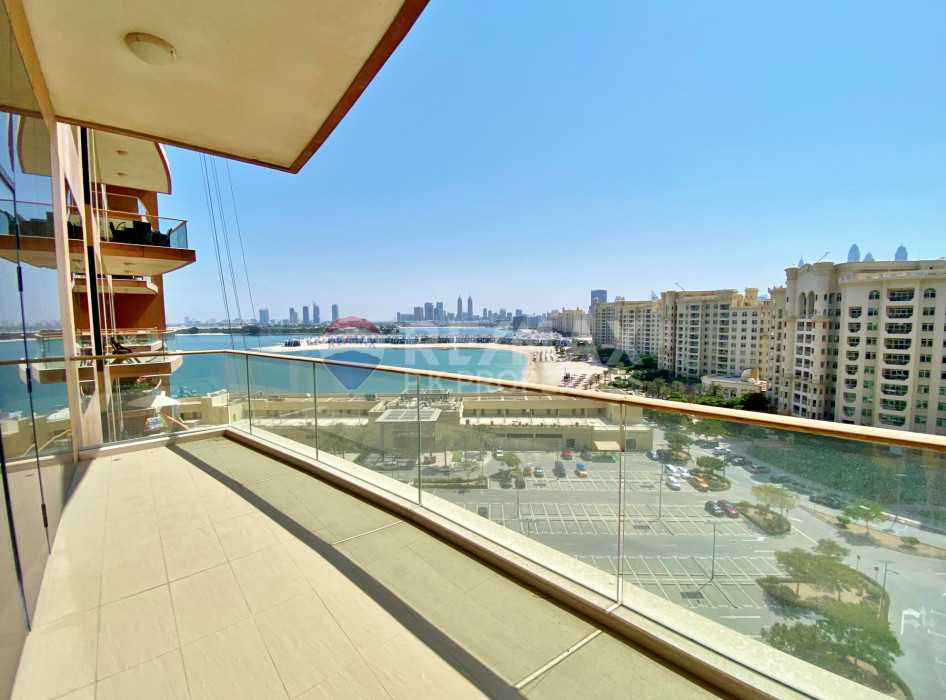 Large 2 Bed+Study | Vacant | High Floor - Sapphire, Tiara Residences, Palm Jumeirah, Dubai
