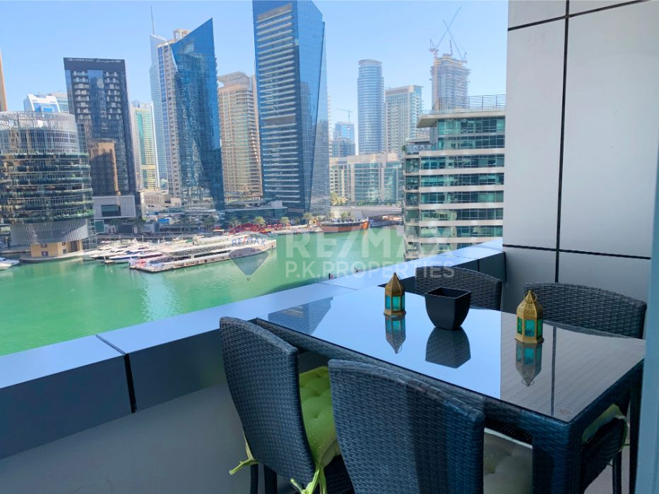 Fully Furnished 1 bedroom | Full Marina View - Bay Central West, Bay Central, Dubai Marina, Dubai