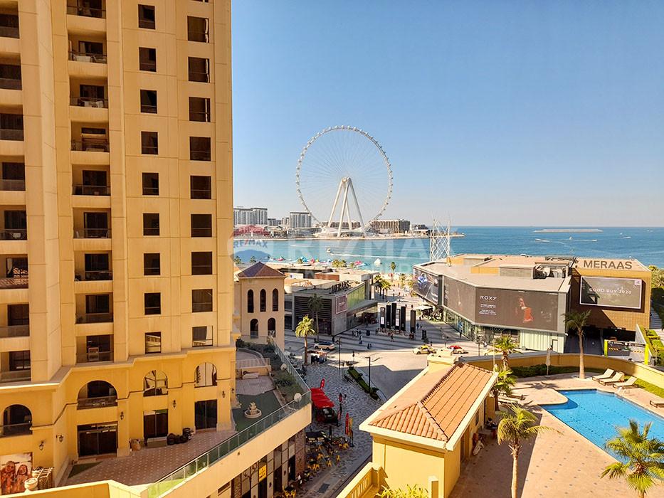 Full Dubai Eye Views | Large Layout | 3 bed + maids | Vacant - Bahar 2, Bahar, Jumeirah Beach Residence, Dubai