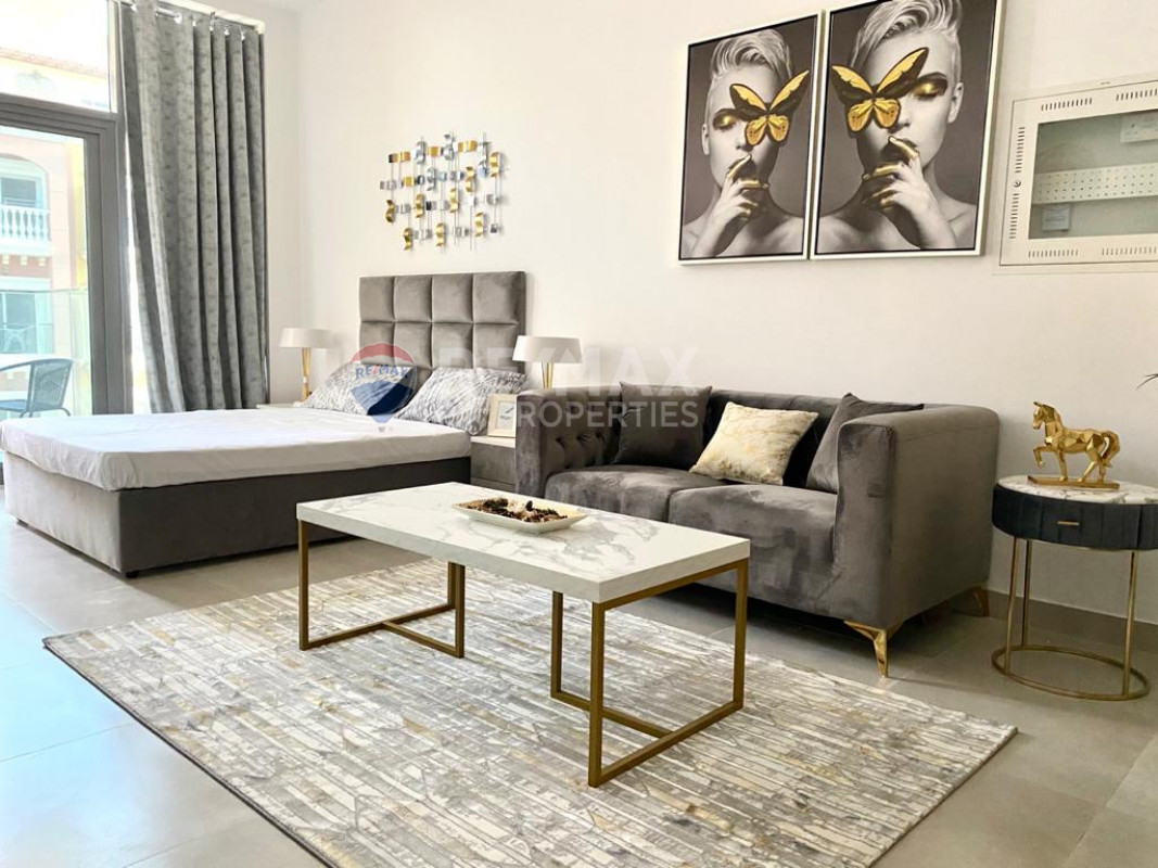 Stunning Fully furnished studio   Elysee JVC - Pantheon Elysee, Jumeirah Village Circle, Dubai