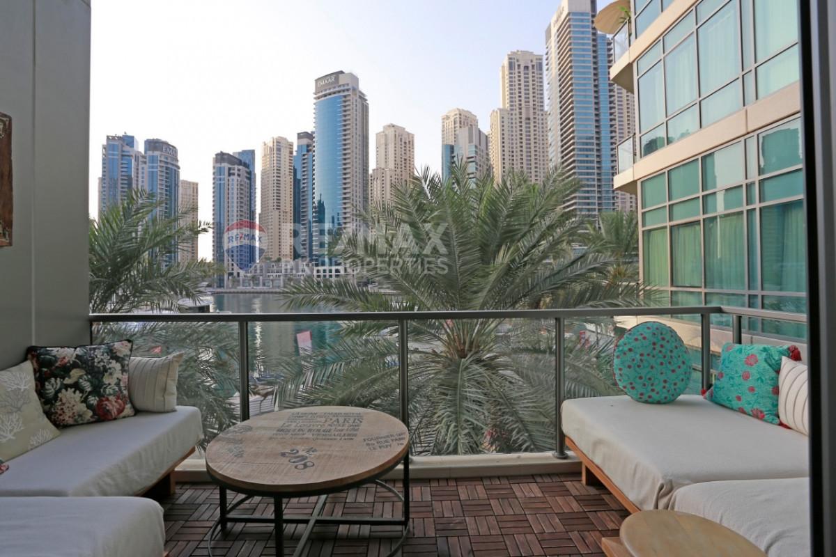 Beautiful 2+Maid | Marina View | Trendy - Al Majara 5, Al Majara, Dubai Marina, Dubai