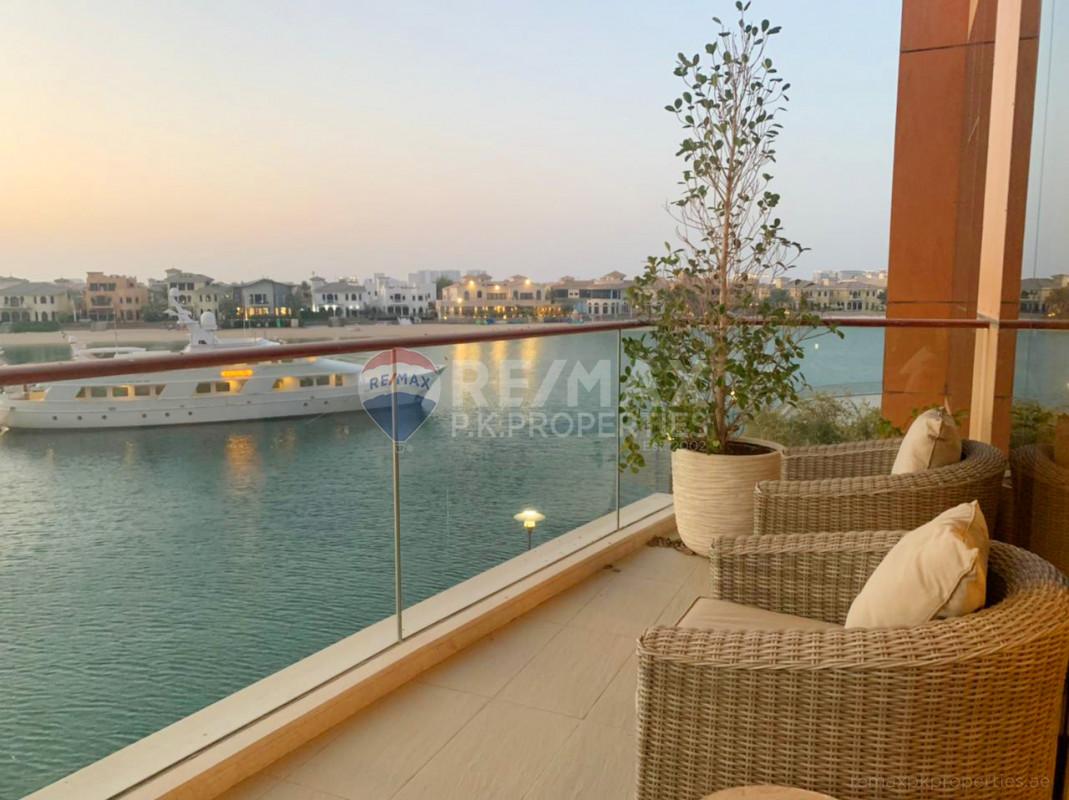 Stunning Views | Part-Furnished | Very Well Maintained - Diamond, Tiara Residences, Palm Jumeirah, Dubai