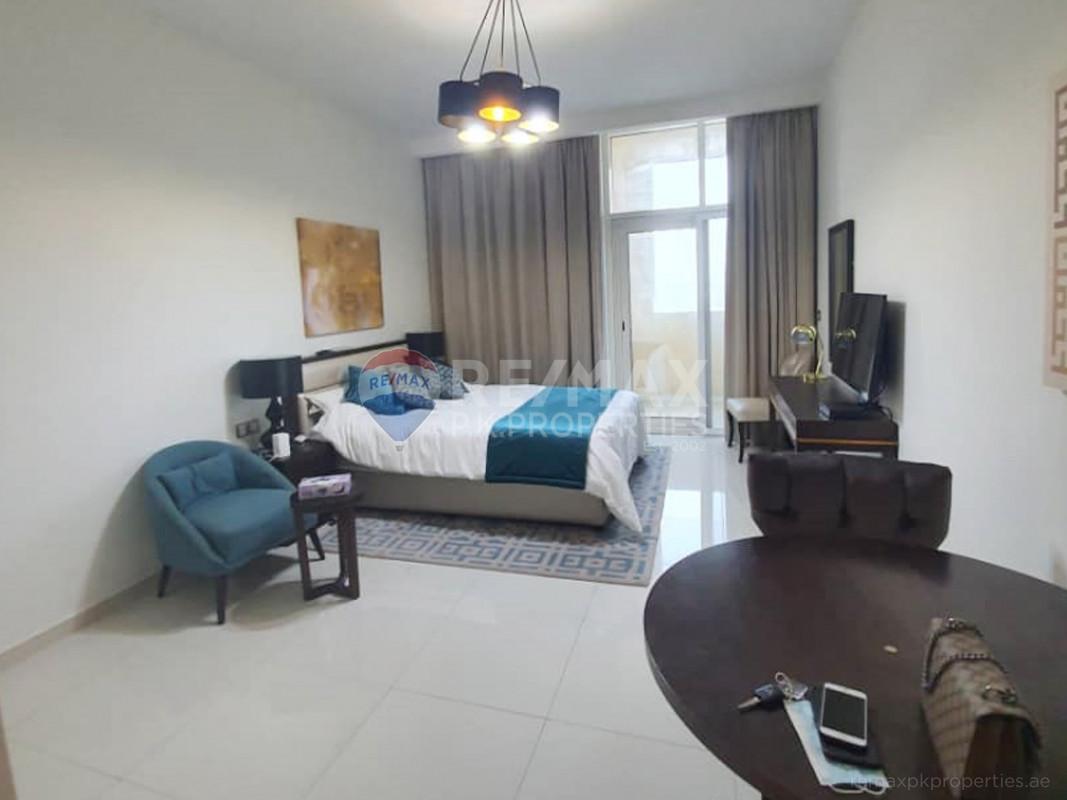 fully furnished studio for rent - Ghalia, District 18, Jumeirah Village Circle, Dubai