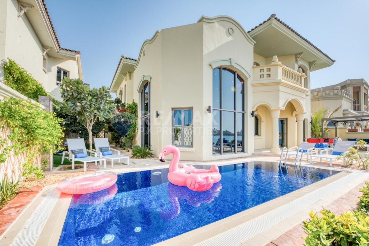 Bills Included | Luxury | Vacant Now | Beach Access - Garden Homes Frond L, Garden Homes, Palm Jumeirah, Dubai