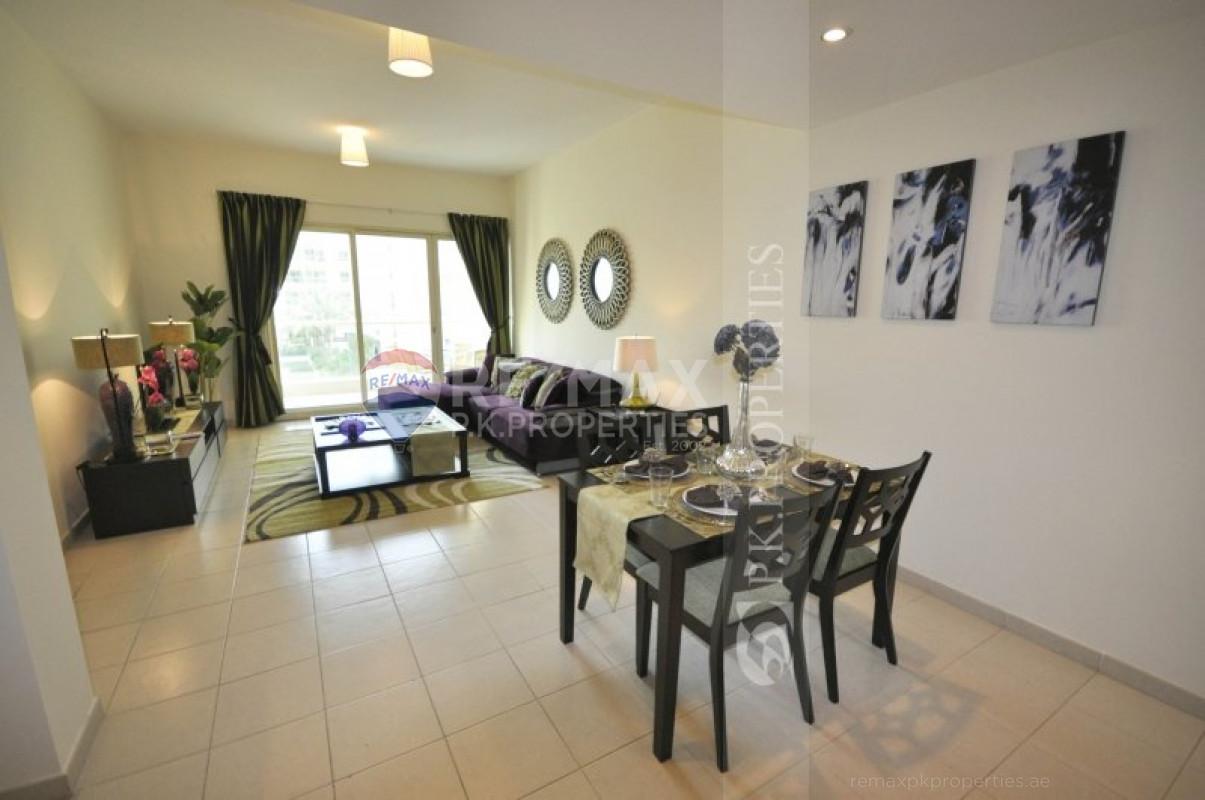 Exclusive | Pool View |  Fully Furnished - Al Thayyal 4, Al Thayyal, Greens, Dubai