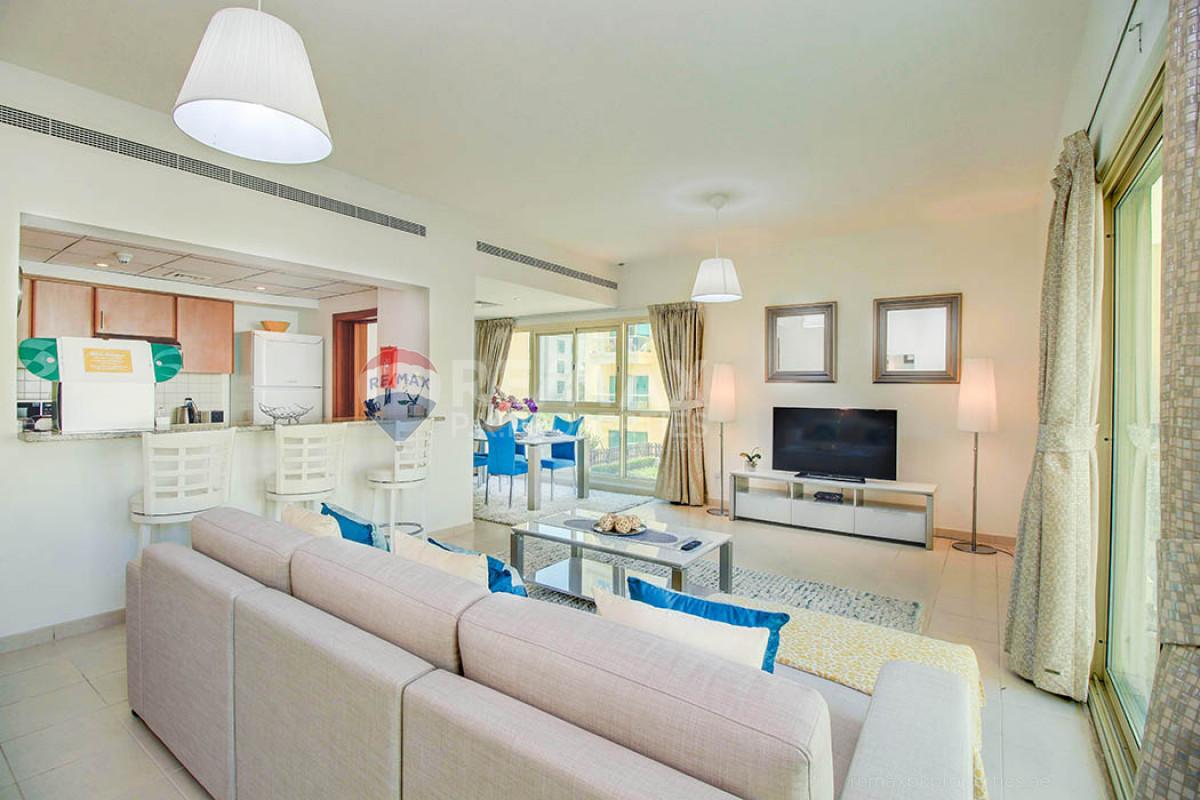 Family Apartment | Fully Furnished | Pool View - Al Dhafra 4, Al Dhafra, Greens, Dubai