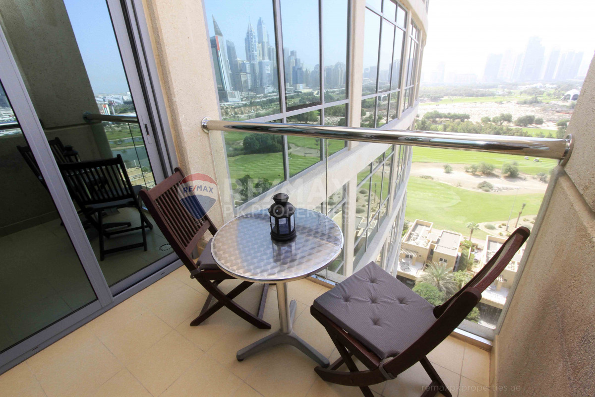 Spacious | Fully Furnished | Full Golf Course View - Golf Tower 2, Golf Towers, The Views, Dubai