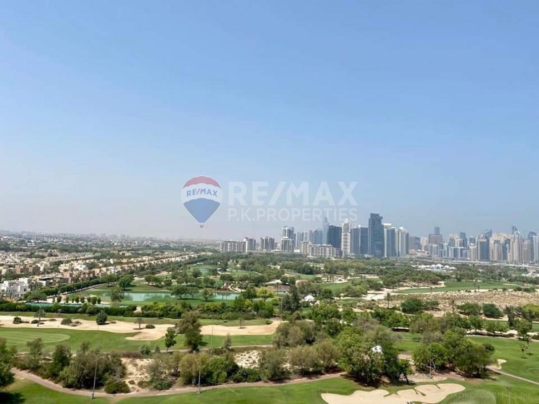 Full emirates golf view apartment | High floor - The Fairways North, The Fairways, The Views, Dubai