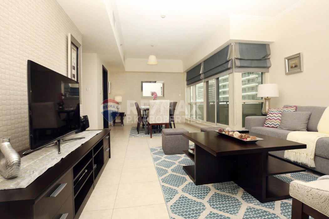 EXCLUSIVE | Fully Furnished 1 BR | VOT | ROI - Al Majara 1, Al Majara, Dubai Marina, Dubai