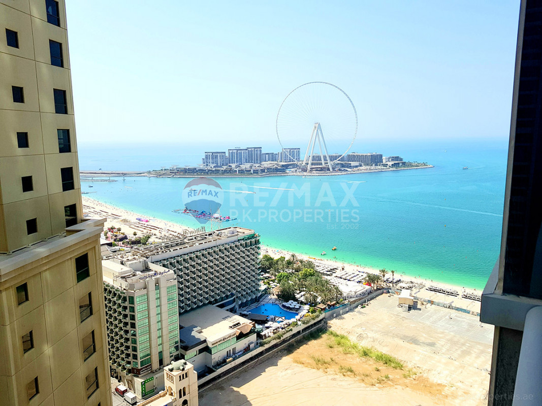 fully furnished/marina and sea view ready to move - Al Fattan Marine Tower, Al Fattan Marine Towers, Jumeirah Beach Residence, Dubai