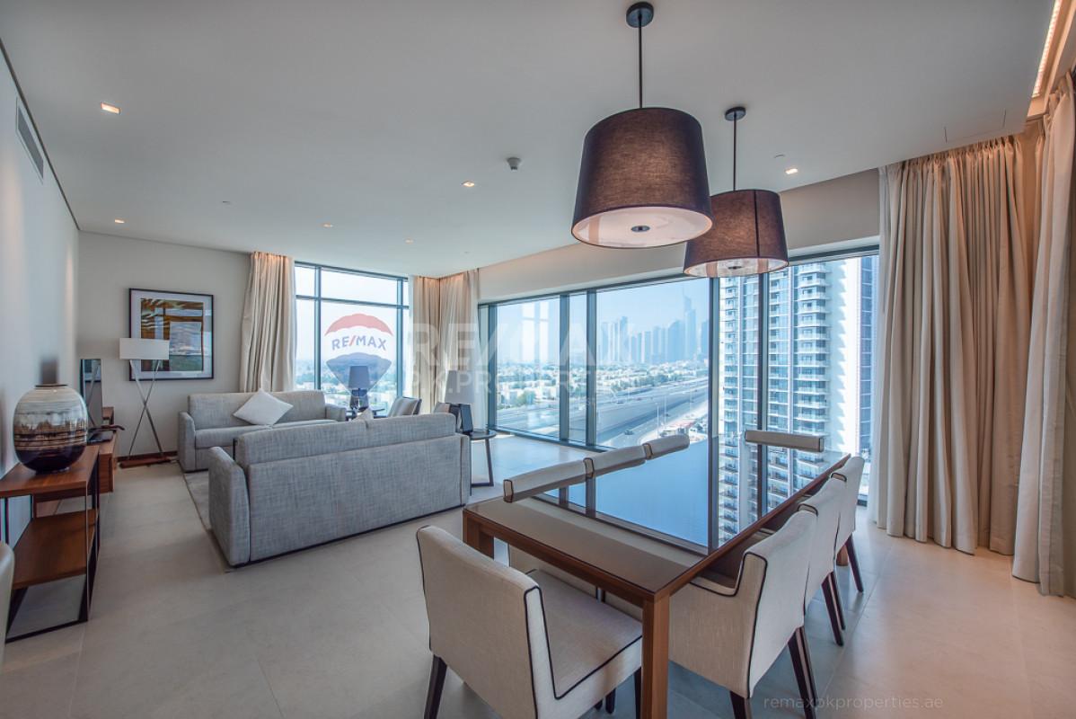 Fully Furnished | Golf Course View | High Floor - Vida Residence 2, Vida Residence, The Hills, Dubai