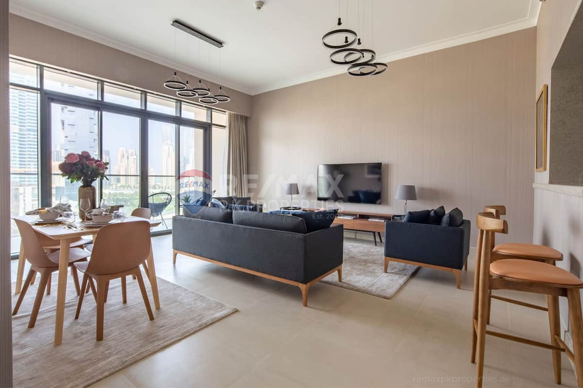Vacant on Transfer | Fully Furnished | High Floor - Vida Residence 2, Vida Residence, The Hills, Dubai