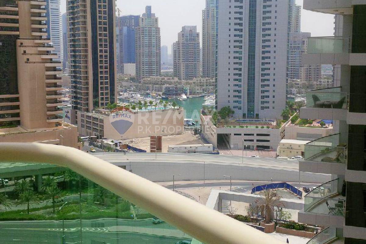 Large Studio | Balcony| Partial Marina View - The Royal Oceanic, Oceanic, Dubai Marina, Dubai